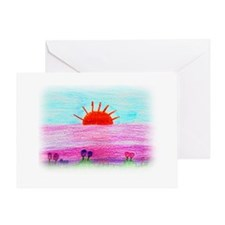 Sammy's Sunset Greeting Card