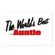 """The World's Best Auntie"" Postcards (Package of 8)"