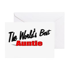 &quot;The World's Best Auntie&quot; Greeting Cards (Pk of 20