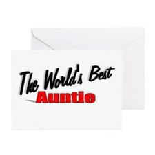 """The World's Best Auntie"" Greeting Cards (Pk of 10"