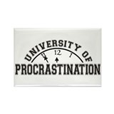 Uni of Procrastination Rectangle Magnet