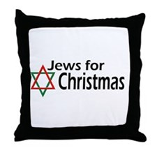 Jews for Christmas Throw Pillow