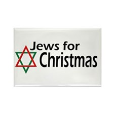 Jews for Christmas Rectangle Magnet