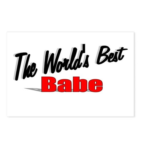 """The World's Best Babe"" Postcards (Package of 8)"