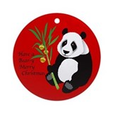 Bear-y Merry Christmas Ornament (Round)