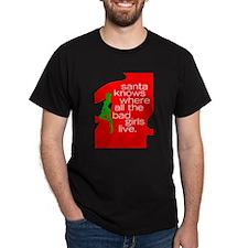 Santa knows... Bad Girls T-Shirt