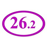 Purple 26.2 Marathon Oval Bumper Stickers