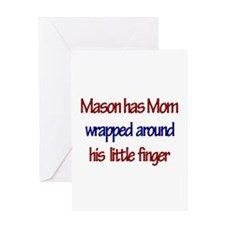Mason - Mom Wrapped Around F Greeting Card