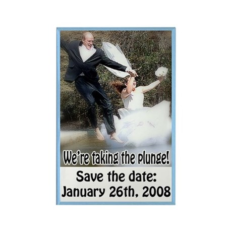Save the Date 4 Rectangle Magnet