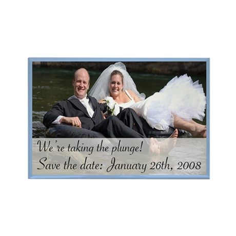 Save the Date 3 Rectangle Magnet