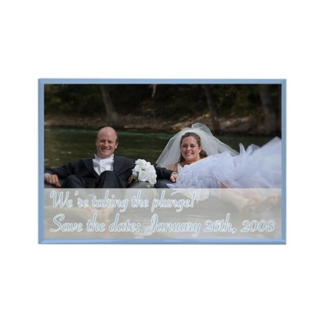 Save the Date 2 Rectangle Magnet