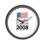 Obama / Clinton 2008 Wall Clock