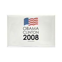 Obama / Clinton 2008 Rectangle Magnet
