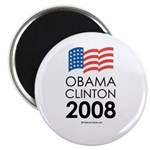 Obama / Clinton 2008 Magnet