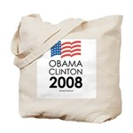 Obama / Clinton 2008 Tote Bag