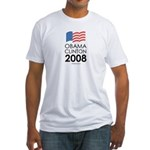 Obama / Clinton 2008 Fitted T-Shirt