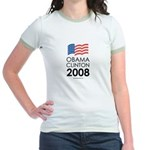 Obama / Clinton 2008 Jr. Ringer T-Shirt