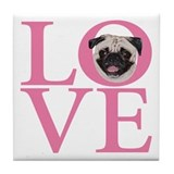 Love Pug -  Tile Coaster