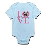 Love Pug -  Infant Bodysuit