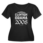 Clinton / Obama 2008 Women's Plus Size Scoop Neck