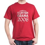 Clinton / Obama 2008 Dark T-Shirt