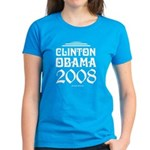 Clinton / Obama 2008 Women's Dark T-Shirt