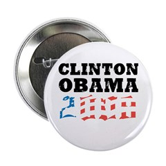 """Clinton / Obama 2008 2.25"""" Button (10 pack)"""