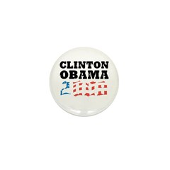 Clinton / Obama 2008 Mini Button (100 pack)