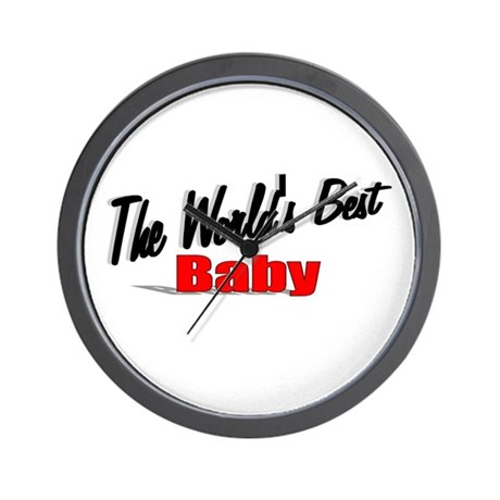 """The World's Best Baby"" Wall Clock"