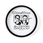 Clinton / Obama 2008 Wall Clock