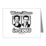Clinton / Obama 2008 Note Cards (Pk of 20)