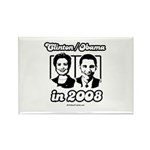 Clinton / Obama 2008 Rectangle Magnet (100 pack)