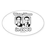 Clinton / Obama 2008 Oval Sticker