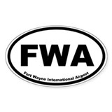 Fort Wayne International Airport Oval Decal