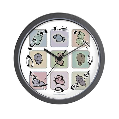 Colorful Creatures Wall Clock