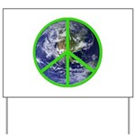 Earth Peace Symbol Yard Sign