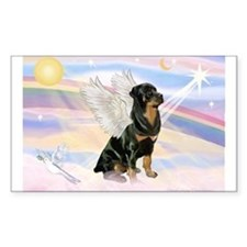 Clouds / Rottie Rectangle Decal
