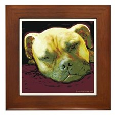 Bullmastiff at Rest Framed Tile