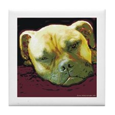 Bullmastiff at Rest Tile Coaster