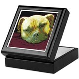 Bullmastiff at Rest Keepsake Box