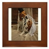 Cute Beagle Framed Tile