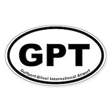 Gulfport-Biloxi International Oval Decal