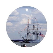 Old Ironsides Ornament (Round)