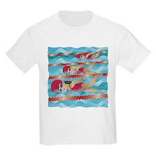 Little Swimmer Girls T-Shirt