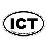 Wichita Mid-Continent Airport Oval Decal
