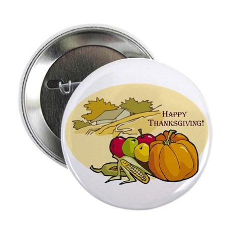 "Happy Thanksgiving 2.25"" Button"