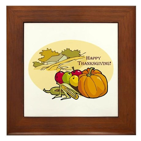 Happy Thanksgiving Framed Tile