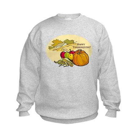 Happy Thanksgiving Kids Sweatshirt