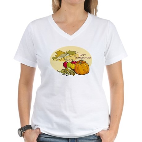 Happy Thanksgiving Women's V-Neck T-Shirt