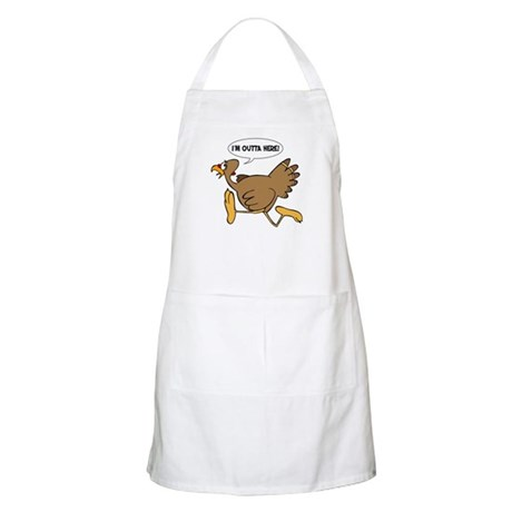 I'm Outta Here Turkey BBQ Apron